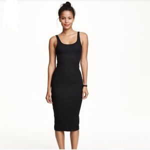Black ribbed bodycon H&M dress